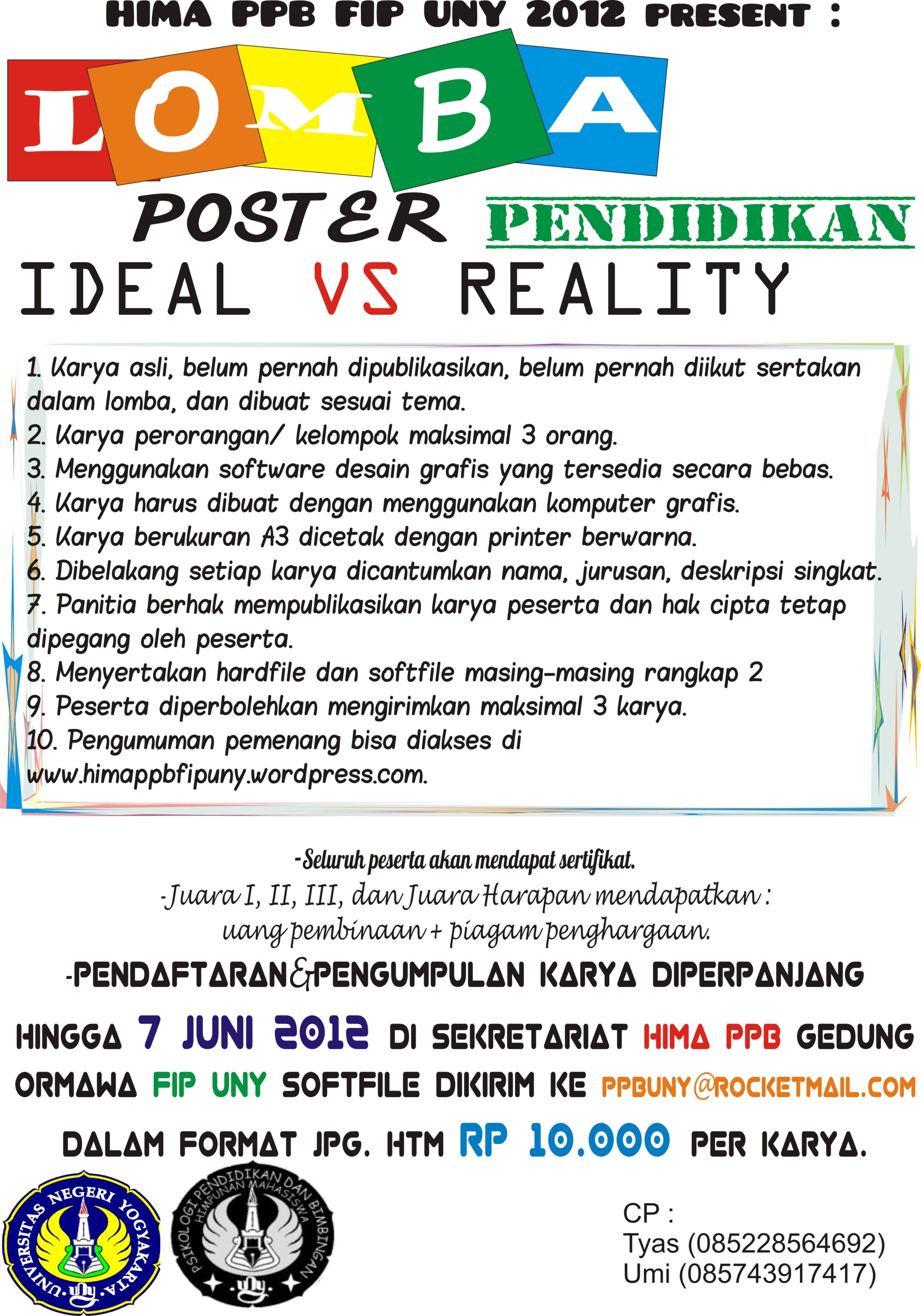 Lomba Poster Pendidikan Se Universitas Negeri Yogyakarta